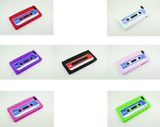 Apple iPhone 5/5S Retro Cassette Design Silicone Gel Skin Case Cover