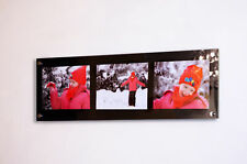 """cheshire ACRYLIC 36x12 10mm multi wall FRAME for 3X 9x7"""" pixi PHOTO / picture"""