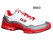 COLUMBUS BRAND MENS WHITE,RED HERO CASUAL SPORTS SHOES