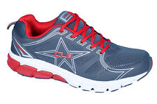 COLUMBUS BRAND MENS I-TOUCH GREY RED CASUAL LACE SPORTS SHOES