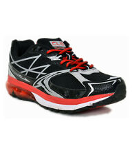 COLUMBUS BRAND MENS BLACK RED ORBIT CASUAL LACE SPORTS SHOES
