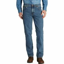 Mens Wrangler Texas Regular Fit Stretch Jeans Stonewash Blue All Sizes Available