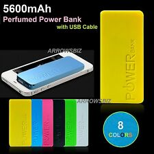 5600mAh Slim Perfume Polymer Power Bank Universal USB Charger External Battery