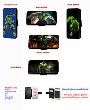 Custom Inspired Incredible Hulk leather phone case for Samsung iPhone Xperia LG
