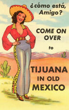 Come On over  to Tijuana  metal Retro Aluminium tin Sign VINTAGE AD shabby chic