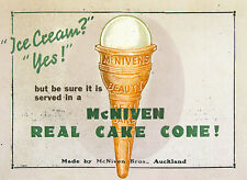 Ice Cream ? YES  McNiven Vintage style METAL TIN SIGN POSTER WALL PLAQUE