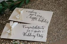 Beautiful Ivory diamante wedding/Birthday gift wallet for money/vouchers/tickets