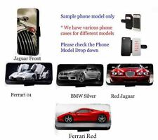 Supercar Jaguar race car leather wallet phone case iPhone Samsung HTC J3 7 g4