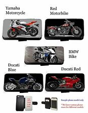 Motorbike Ducati bike leather wallet phone case for iphone 6 s7 s5 s6 edge g4 z5