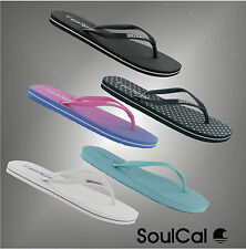 New Ladies Branded Soul Cal Flip Flops Beach Light Weight Sandals Size 3-8