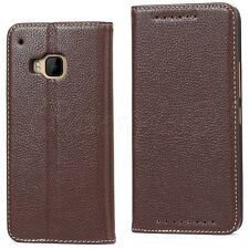 HTC 1 One M9 Phone Genuine Real Leather Premium Wallet Flip Case Card Cover New