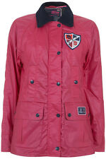 Pauls Boutique Waxed Hunter Jacket Coat BLACK or CORAL PINK Brand New!- Was £110