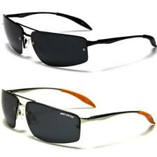 Mens Polarized Lens Designer Metal Wrap Black UV400 Sunglasses 3912 New