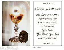 1st First Communion Day Prayer Card Symbolic Religious Verse Holy Keepsake