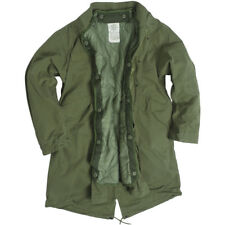 M65 Esercito Fishtail Shell Parka Militare Vintage Hombres Lined Giacca Oliva