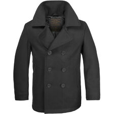 Stile Vintage Us Navy Pea Coat Hombres Giacca Classic Army Reefer Cappotto Nero