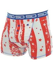 Smuggling Duds Red-White-Blue Star Spangled Boxer Shorts