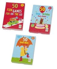 50 Great Ideas for Things To Do  Age 5+  Party Games Rainy Days Travel Cards