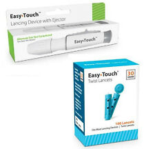 Easy Touch Lancing Device with Ejector, 5 Depth Settings + 100 30G Lancets