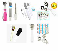 White Callus Corn Hard Skin Remover Shaver Foot Pedicure Kit Feet and 100 Blades