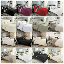 SUPERIOR COTTON DUVET QUILT COVER WITH PILLOWCASE BEDDING SET  ALL SIZES