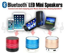 Mini LED Bluetooth Wireless Speaker Super Bass Stereo - UK Seller