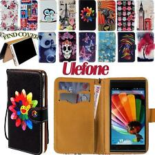 Stand Flip Folio Card Wallet Leather Cover Case For Various Ulefone Smartphone