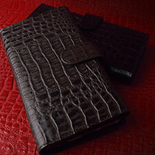 Lux Caiman Genuine Leather Case Galaxy S5 Case Galaxy S4 Case 4 Colors Wallet