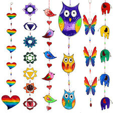 Beautiful Suncatcher Dangly Colourful Mobiles - Owls, Birds, Chakra, Butterfly