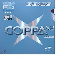 Donic Coppa X 2 Platin Soft Ping Pong Topping