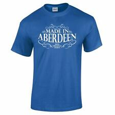 Made In Aberdeen Scotland Scottish Fathers Day Birthday Patriotic Mens T Shirt