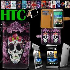 Folio Flip Stand Card Wallet Leather Cover Case Pouch For Various HTC One Phones