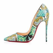Christian Louboutin SO KATE 120 Python Inferno Heels Pumps Shoes Multi $1495