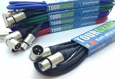Neutrik Angled Male XLR to Female XLR Microphone Cable Patch Lead *ALL LENGTHS*