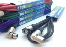 Neutrik Angled Female to Angled Male XLR Microphone Cable. PRO Audio Patch Lead