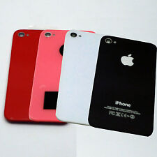 Apple  iPhone 4S Back Glass Battery Cover Black White Red Pink New [Lot of 10]