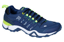 COLUMBUS BRAND MENS NAVY GREEN RIDER CASUAL LACE SPORTS SHOES