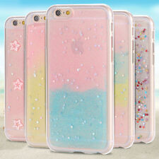 TPU Candy Glitter Rainbow Star Gel Silicone Case Cover For Apple iPhone 5 5s SE