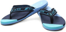 F-sports Brand Mens Neon Sky,Navy Casual V-Shape Slipper / Flip Flops