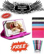 """Universal Bling Leather Stand Case Cover Pouch 9"""" Inch 10"""" Tab Android Tablet PC"""