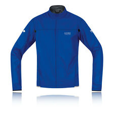 Gore X-Running Windstopper Light Active Shell Mens Blue Running Trail Jacket
