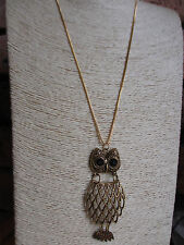 Fashion  Vintage Style OWL Pendant Long Chain Necklace Jewellery Gift