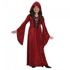 Girls Halloween Gothic Vampiress Robe Fancy Dress Costume Kids Child's Outfit