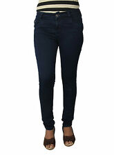 FLIRT Nx NAVY BLUE PLUS SIZE LADIES  HIGH WAIST SILKY STRETCH JEANS (727NB)