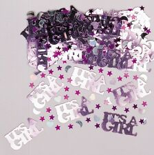 It's A Girl   Baby Shower Pink & Silver Party Table Confetti   Decoration 1-5pk