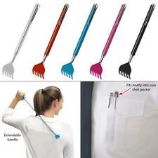 New Telescopic Extendable Back Scratcher Handy Portable Pocket Metal Pen Clip
