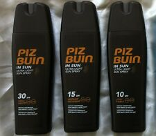 Any 2 Piz Buin ULTRA LIGHT Sun Lotion SPRAYS  SPF 30 , 15 , 10 or Aftersun