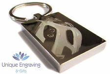 Personalised Car Photo Engraved Rectangle Keyring - Great Birthday Gift