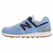 New Balance ML574WYE D Blue Navy Suede Mens Retro Running Shoes ML574WYED