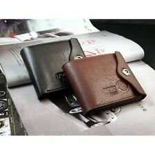 Men Leather Wallet Zipper Coin Purse Card Holder Multifunctional Short Design